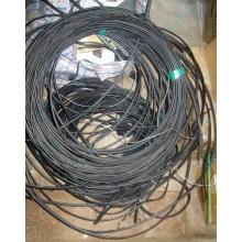 Оптический кабель Б/У для внешней прокладки (с металлическим тросом) в Липецке, оптокабель БУ (Липецк)