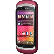 Красно-розовый телефон Alcatel One Touch 818 (Липецк)