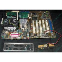 Материнская плата Asus P4PE (FireWire) с процессором Intel Pentium-4 2.4GHz s.478 и памятью 768Mb DDR1 Б/У (Липецк)